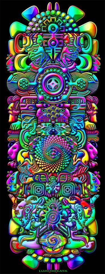 Psychedelic art by Luminokaya