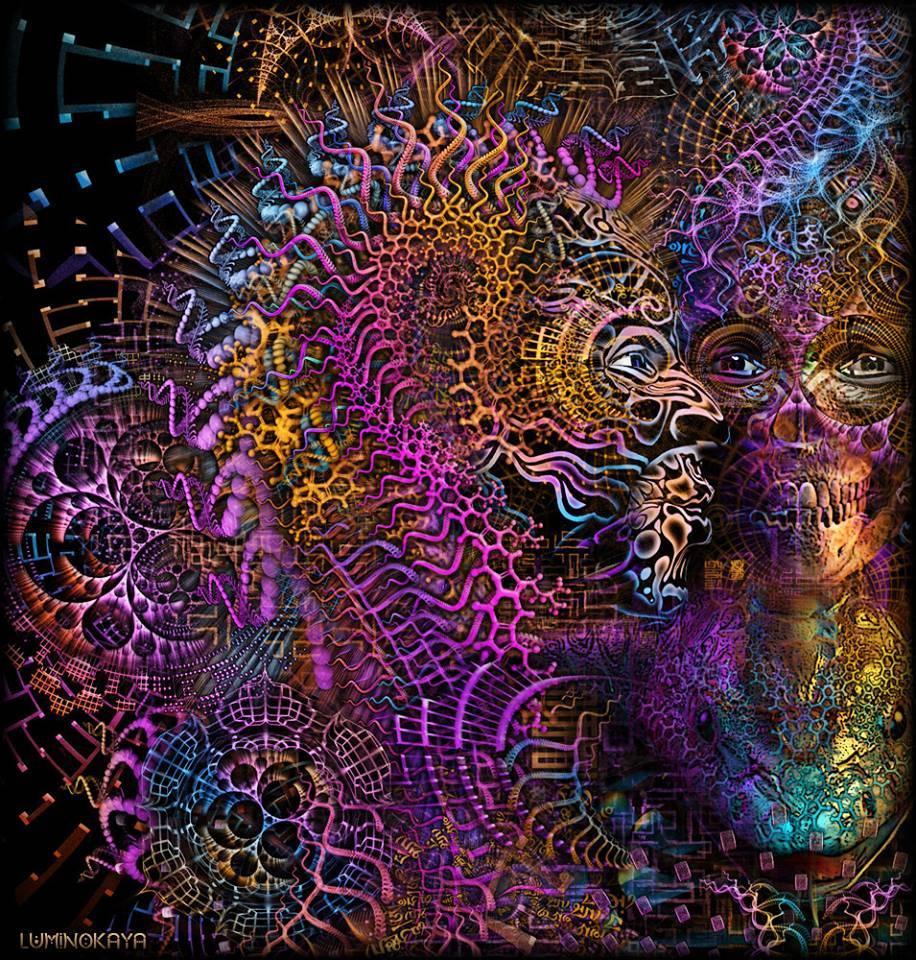 Psychedelic art by Luminokaya psy totem