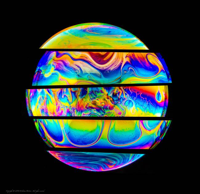 Psychedelic soap bubbles amazing