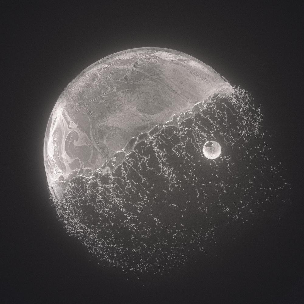 Psychedelic soap bubbles blown
