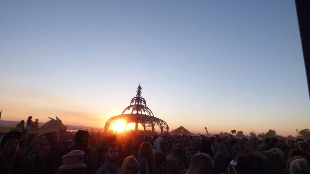 Psychedelic deco from Symbiosis Festival sunset
