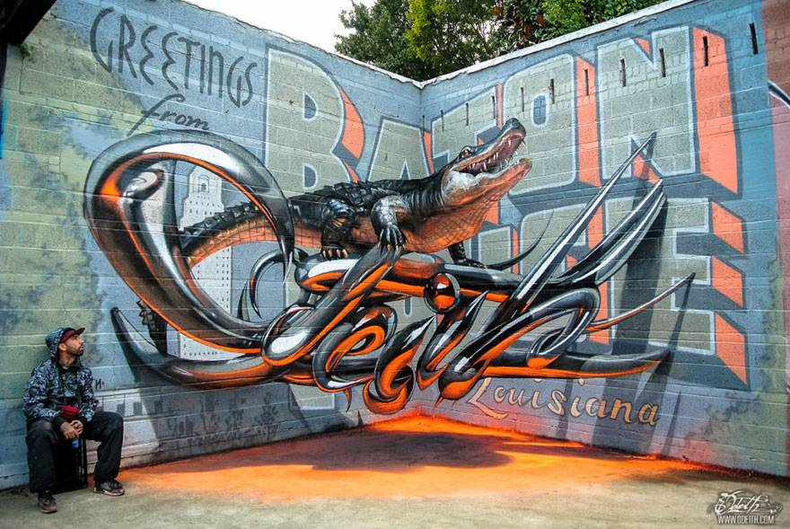 The amazing 3D street art of Odeith