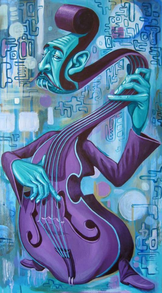 The art of Tokio Aoyama blue guy plays