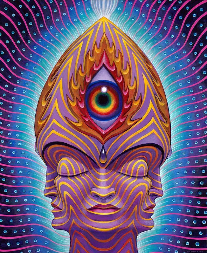 The magical Alex Grey third eye painting