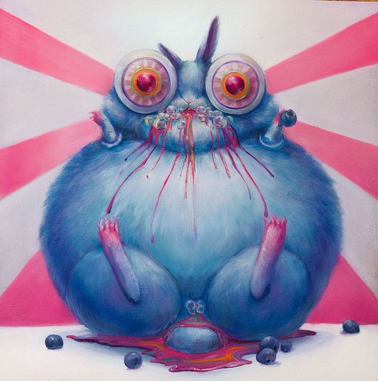 Psychedelic Art of Hanna Faith Yata Blueberry Monster