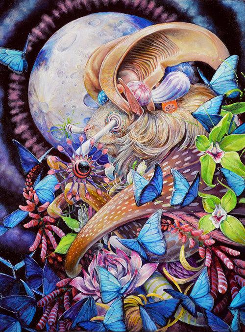 Psychedelic Art of Hanna Faith Yata Morpho