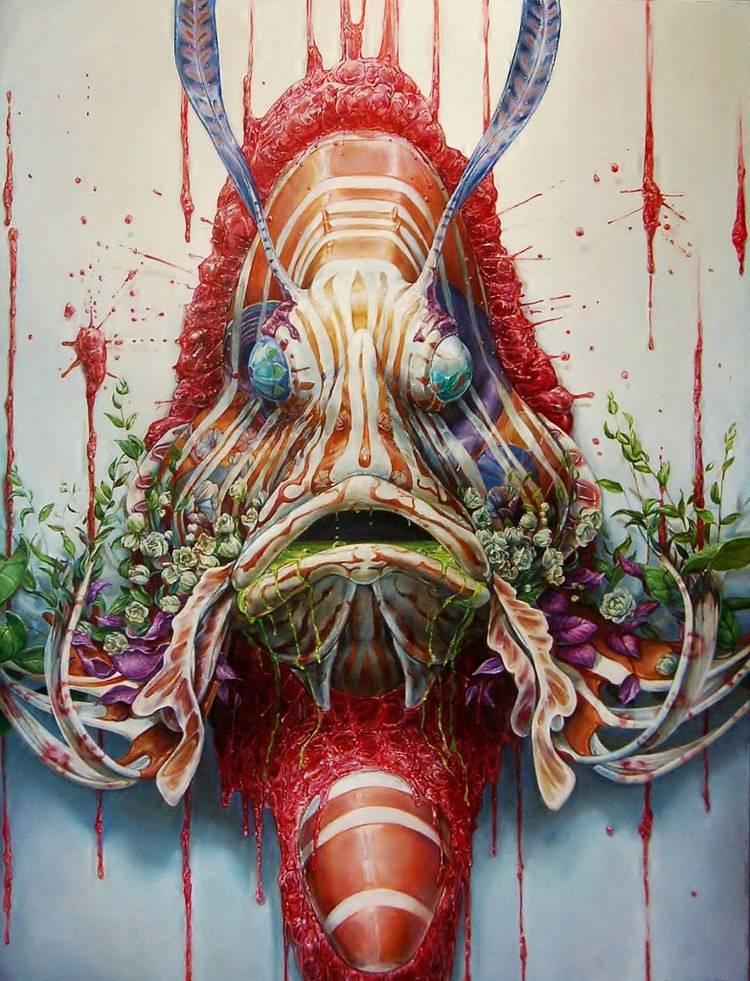 Psychedelic Art of Hanna Faith Yata Rebirth