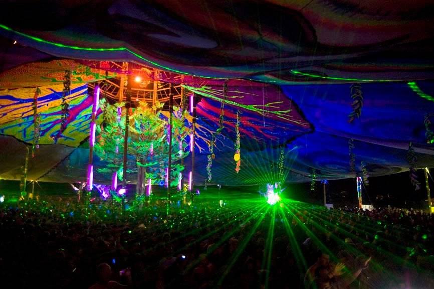 Boom Festival 2006 Dancefloor at night
