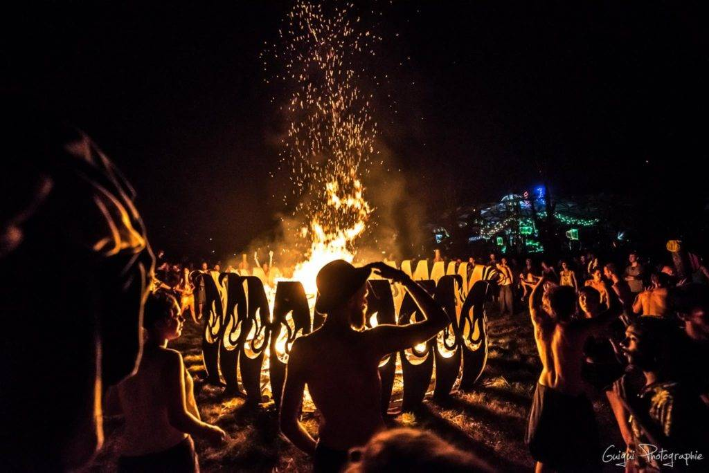 Ozora 2015 fire gathering