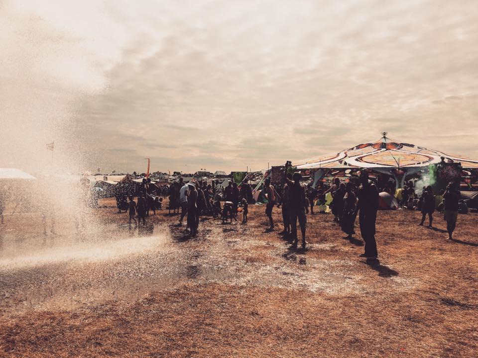 Antaris Project Festival wet dancefloor