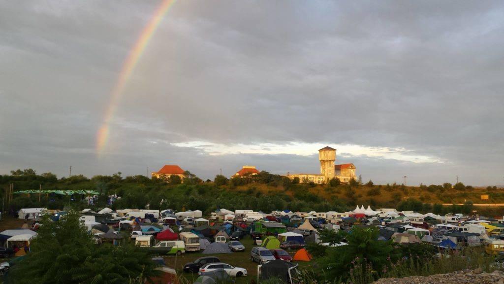 Flow Festival 2016 rainbow over flow