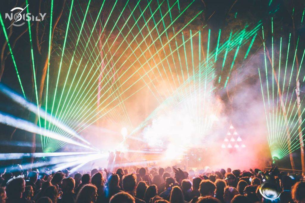Noisily Festival of Music and Arts Festival 2016 laser lights