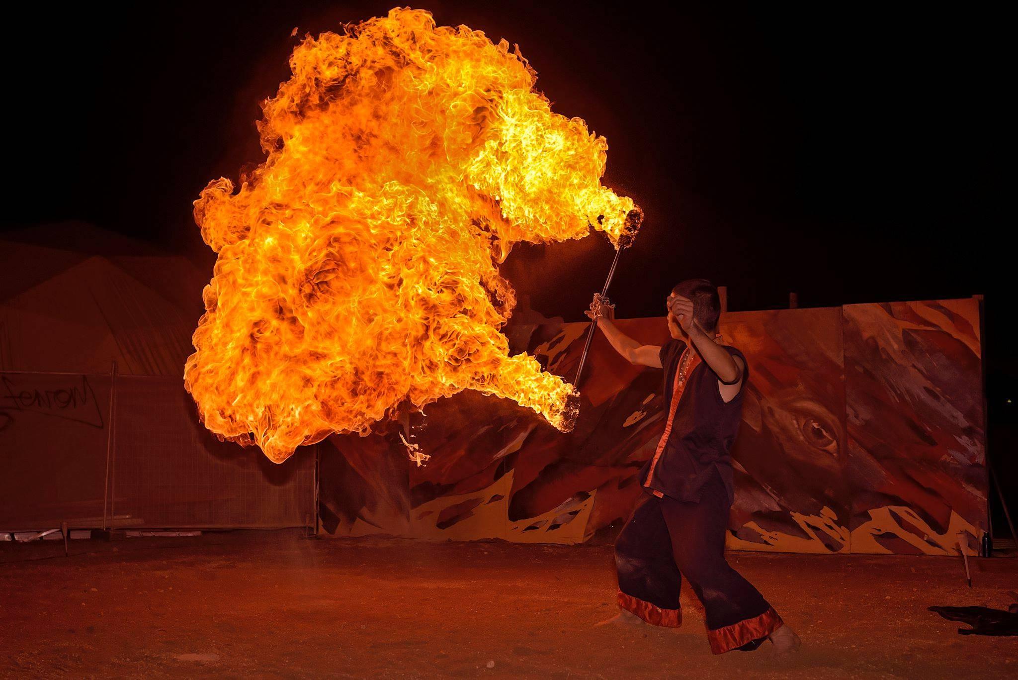 Rainbow Serpent 2015 - fire performance