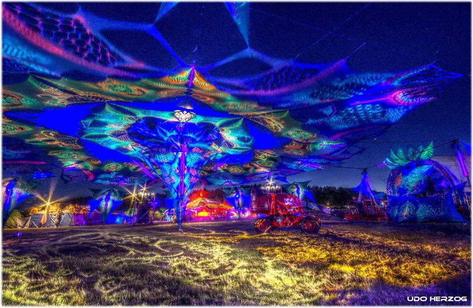 Antaris Project Festival  2015 decoration at night