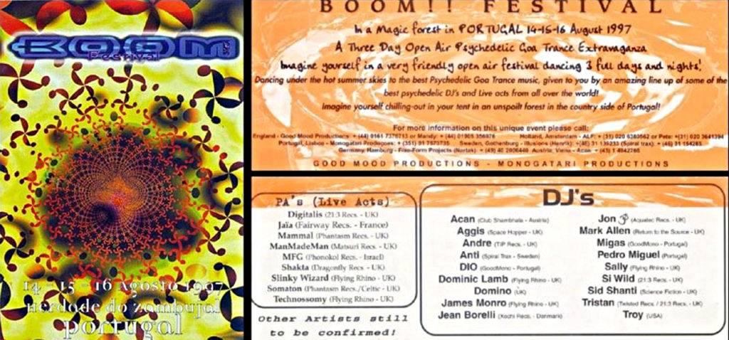 Boom Festival 1997 Flyer