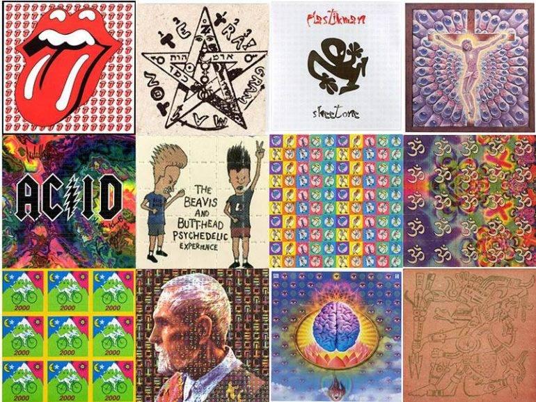 2000s Photo LSD Blotter Drugs