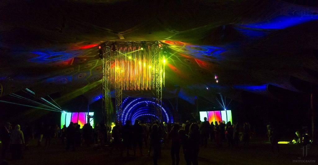 Eclipse festival 2016 dancefloor decoration at night