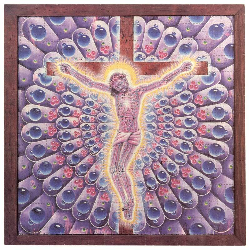 Purple Jusus_Alex Grey 1992_Blotter Baba