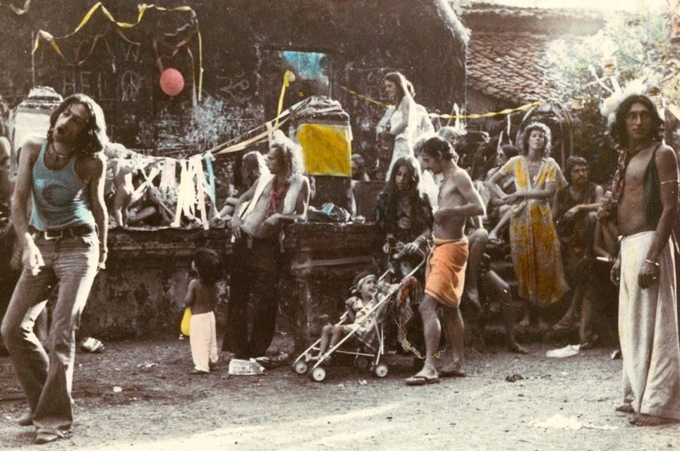 First Flea Market Anjuna Goa 1970s
