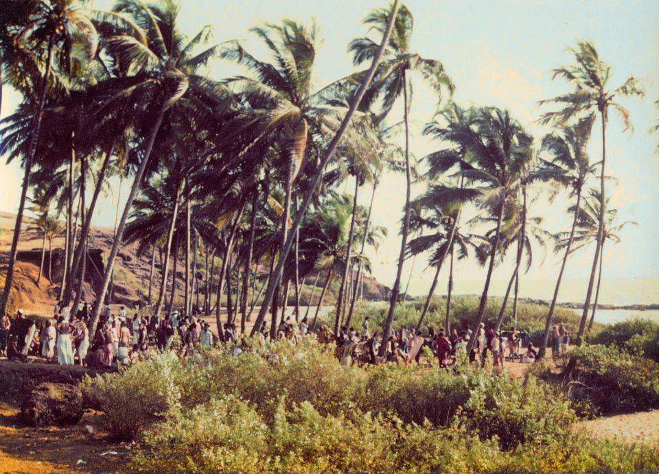 Early Flea market on Anjuna Beach Goa 1970s