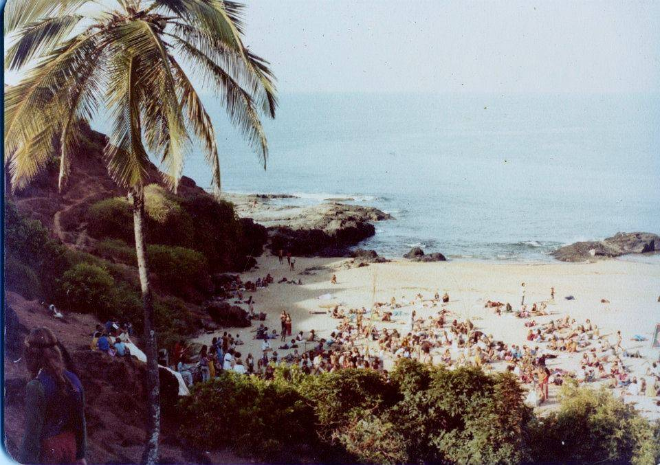 Full Moon Party on South Anjuna Beach Goa 1976