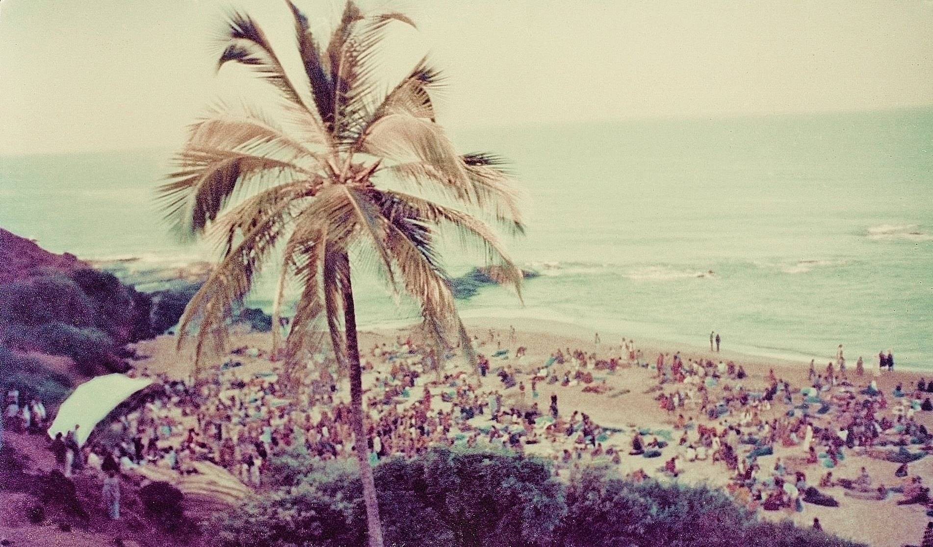Full Moon party in Anjuna Beach, Goa in January 1978