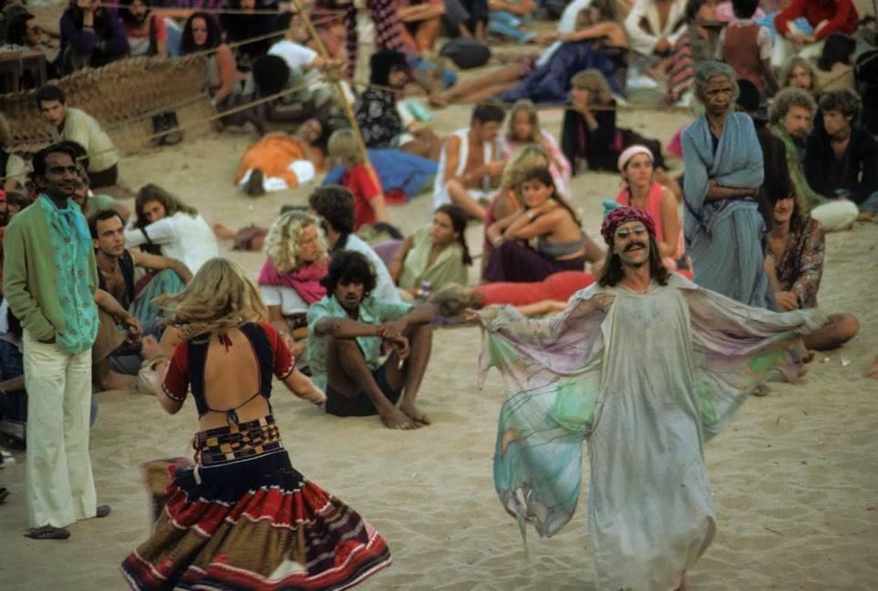 Full moon party morning Anjuna Goa 1979