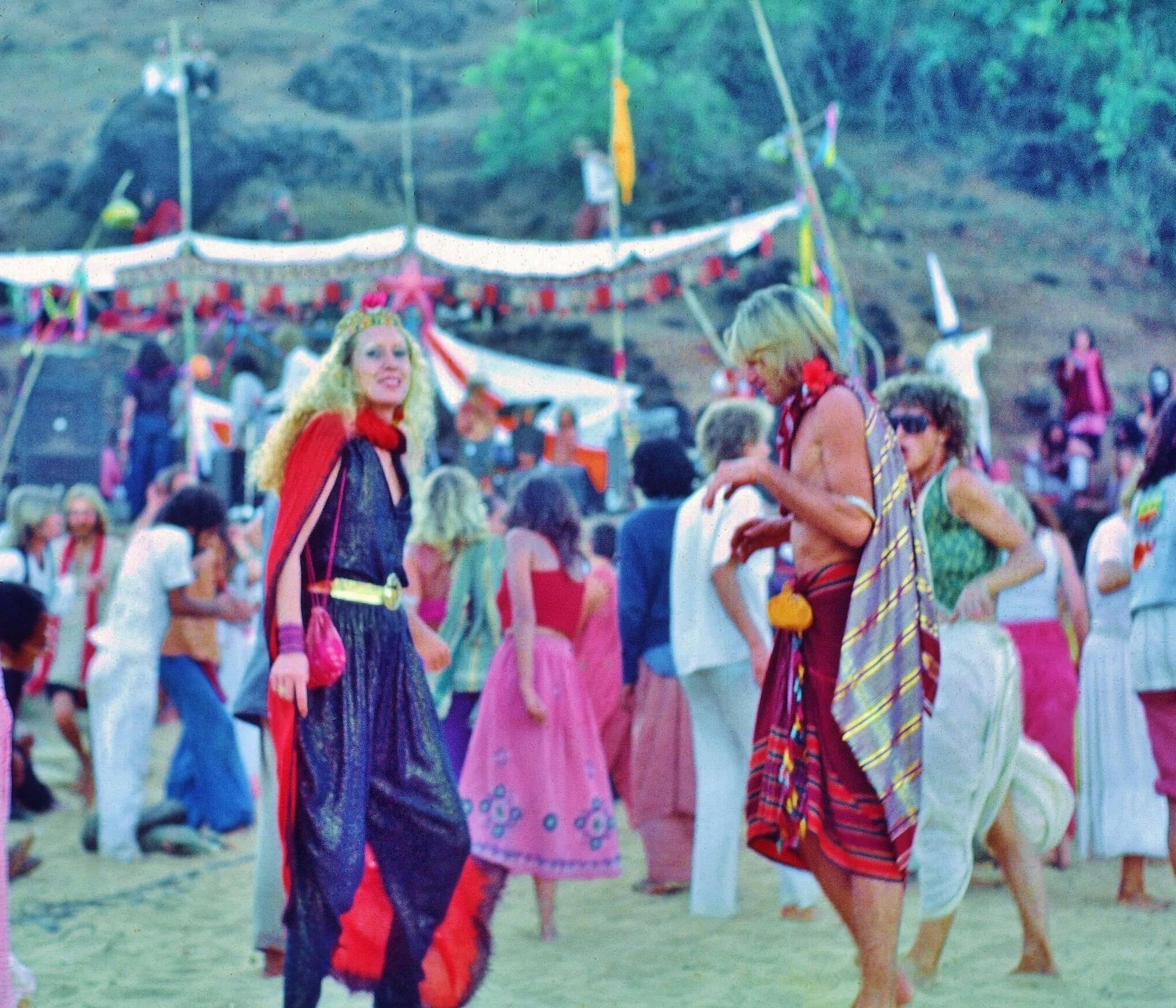 Anjuna Beach in the 1970s