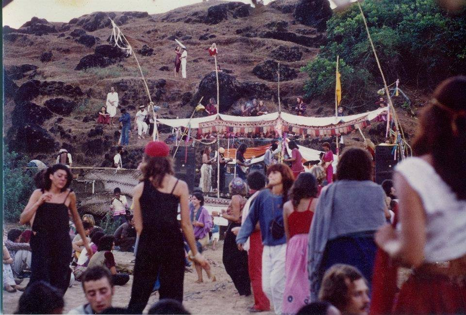 Full Moon party in Goa in mid 1970s