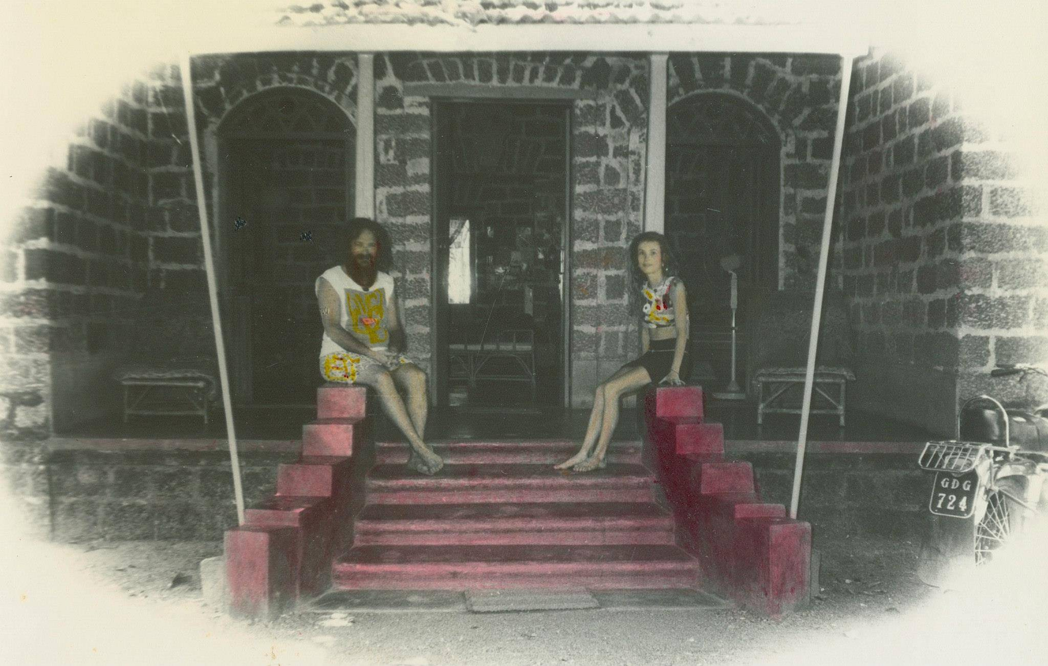 Goa Gil & Arriane in their house in Goa in the early 1970s
