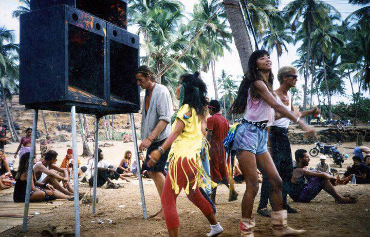 Party in Vagator Goa 1987-88 season