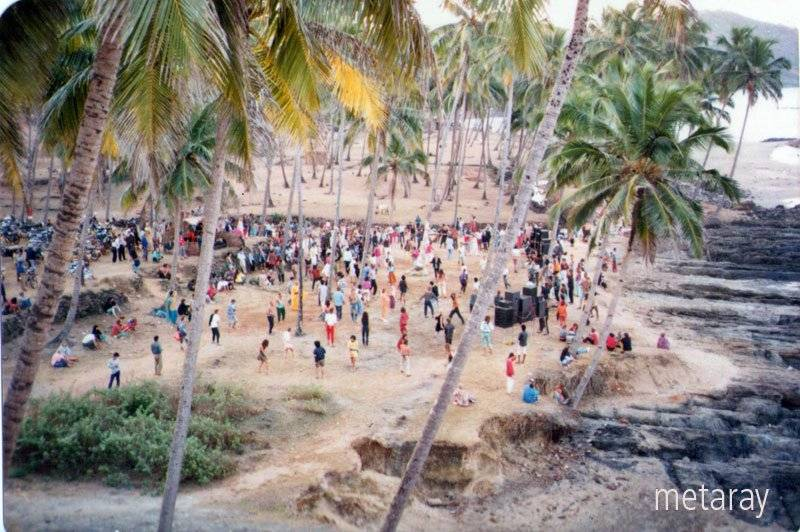Party in Disco Valley Vagator Goa 1988