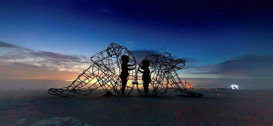 burning-man-love-by-alexander-milov Find your inner child