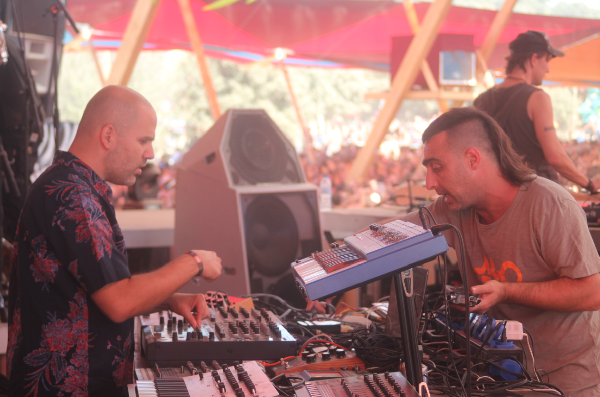LOUS setting up for Boom Festival 2016 live set