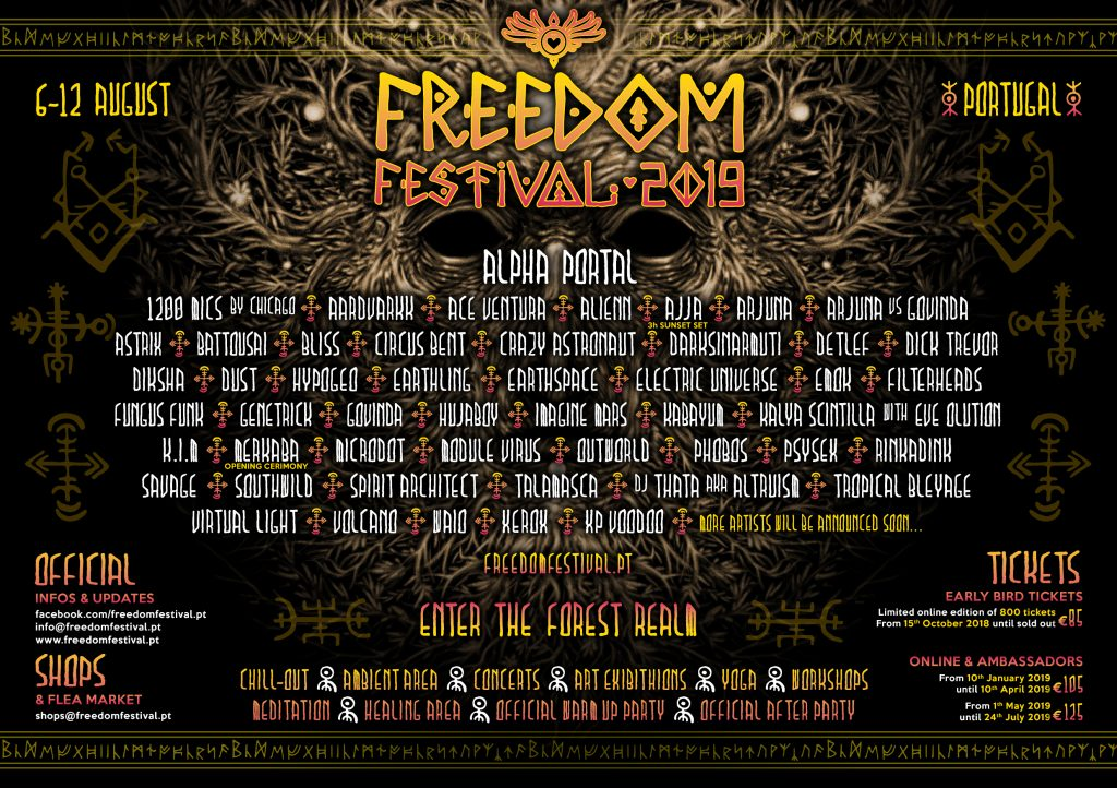 Freedom Festival 2019 line up
