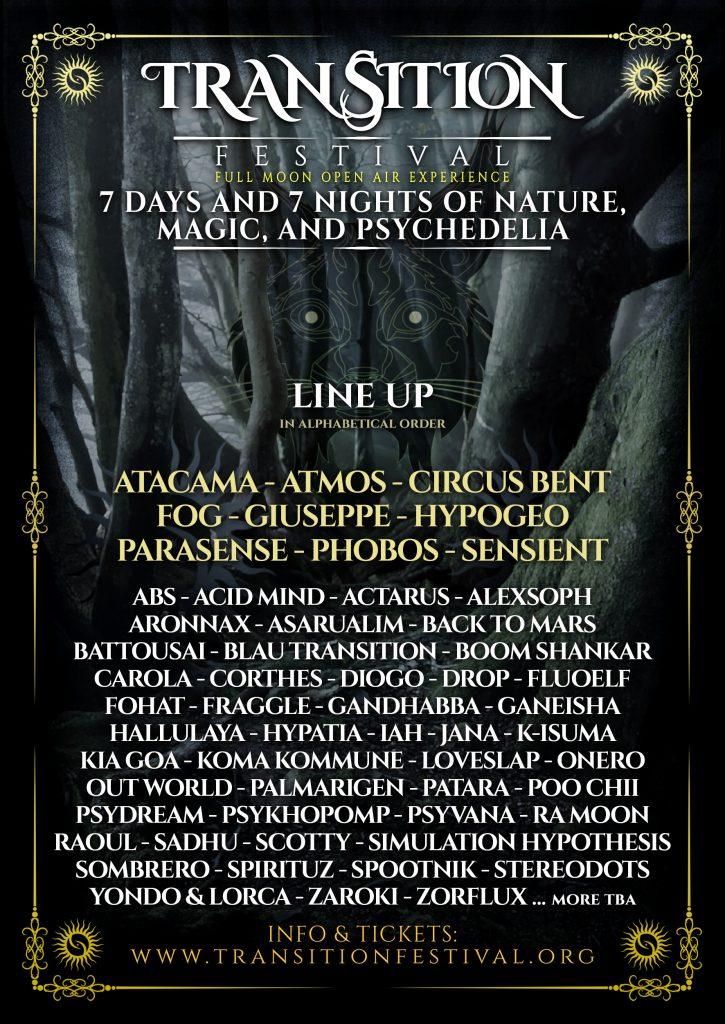 Transition Festival 2020 line up