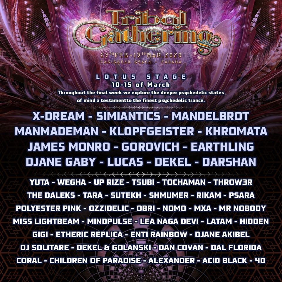 Tribal Gathering 2020 Line Up